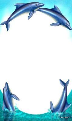 Dolphin clipart border paper. Free cliparts download clip