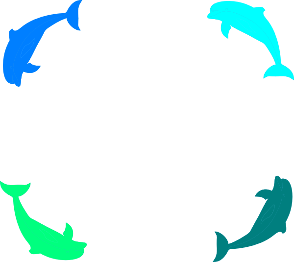 Clip art at clker. Clipart dolphin border