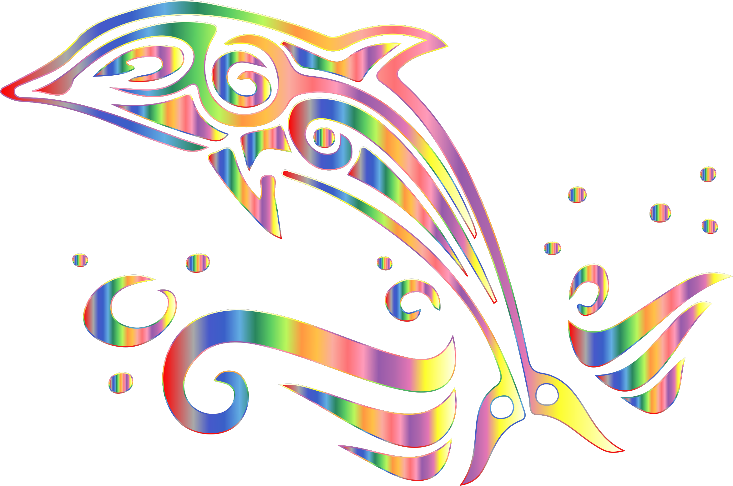 Chromatic no background big. Dolphin clipart tribal