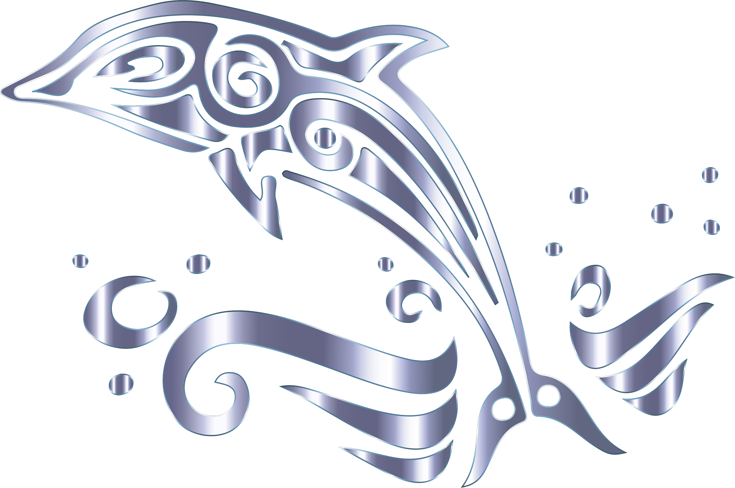 Dolphin clipart tribal. Chromatic no background big