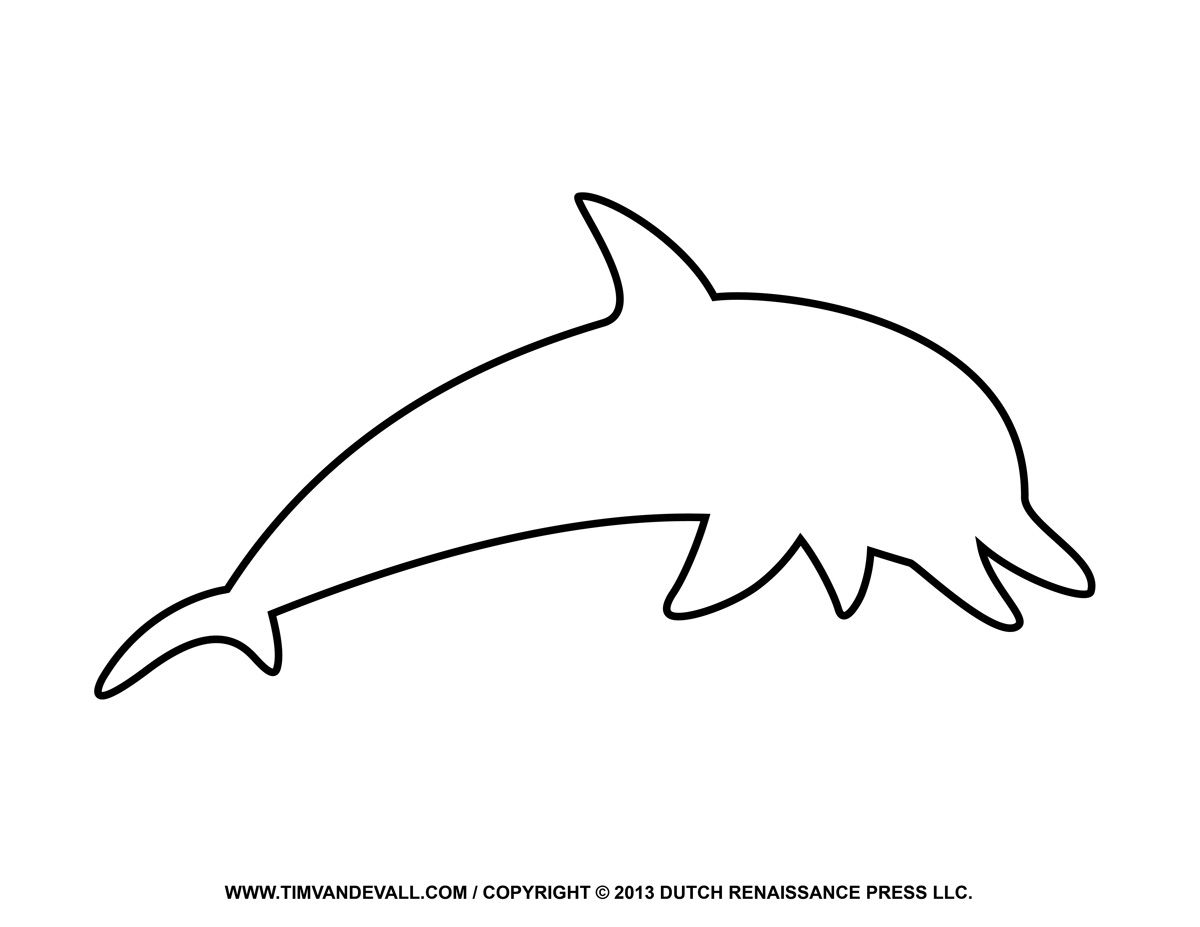 Free printable pages outline. Clipart dolphin coloring page