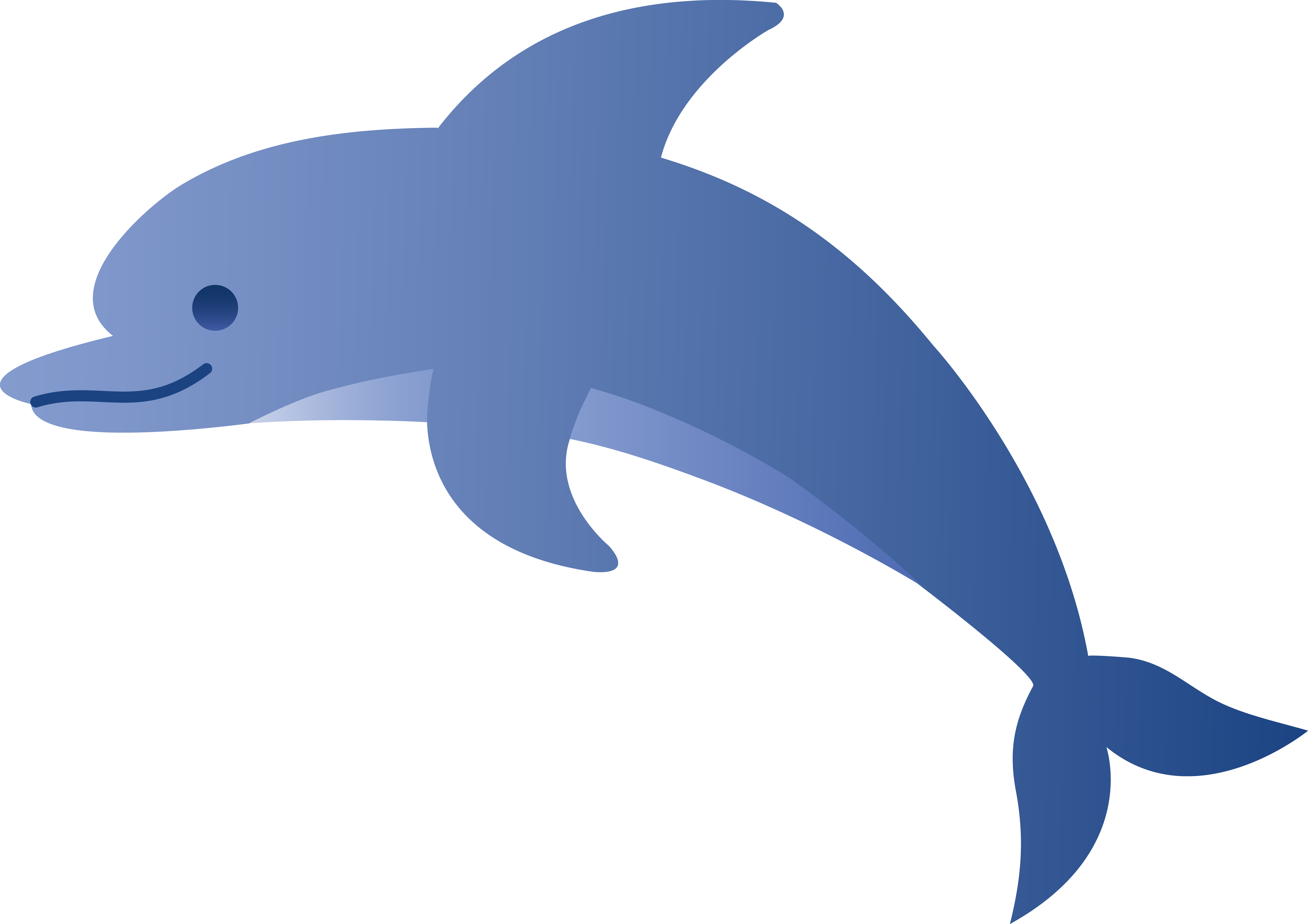 Cute free image . Dolphin clipart blue dolphin