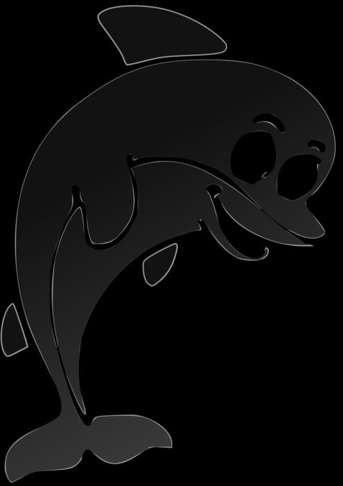 Clipart dolphin cute. Clipartblack com animal free