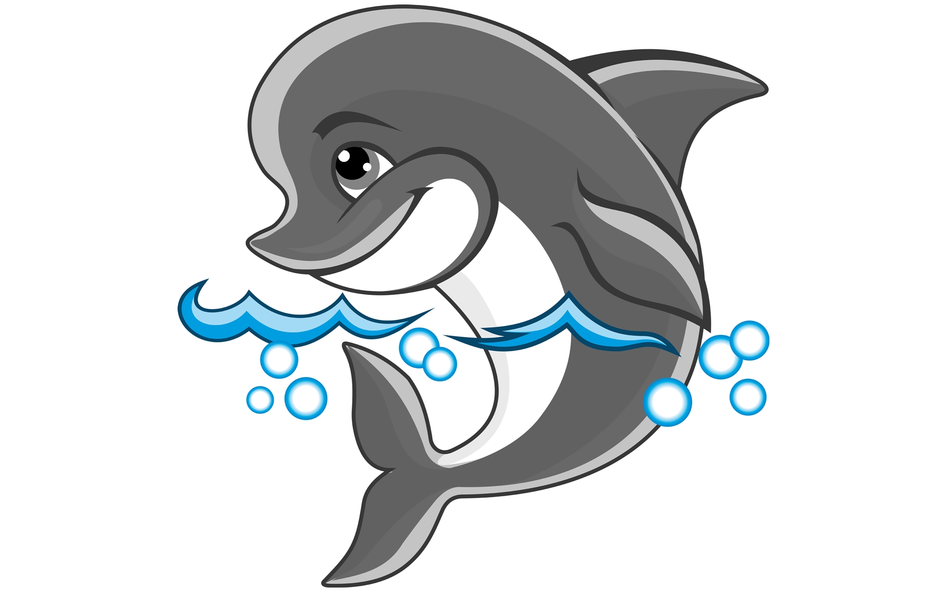 Free cartoon images download. Dolphin clipart cute anime