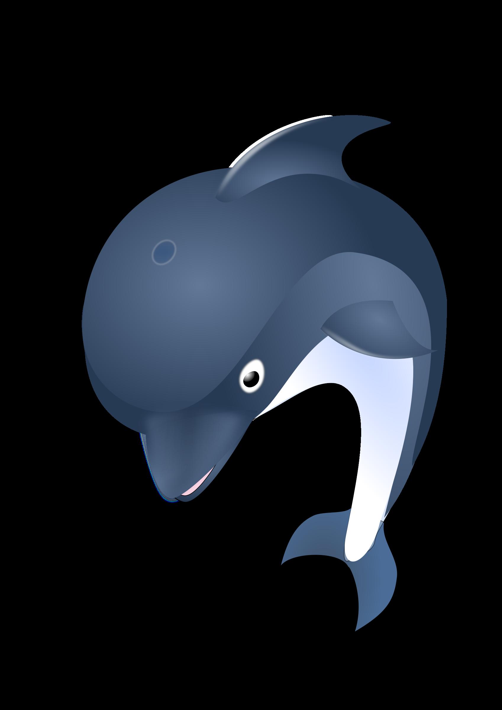 Jumping dolphin big image. Clipart ocean logo
