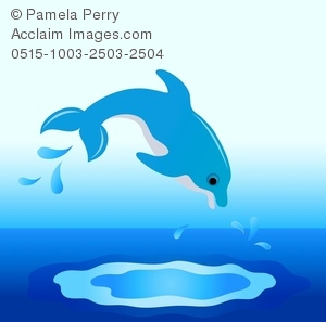 Clip art image of. Dolphin clipart diving dolphin