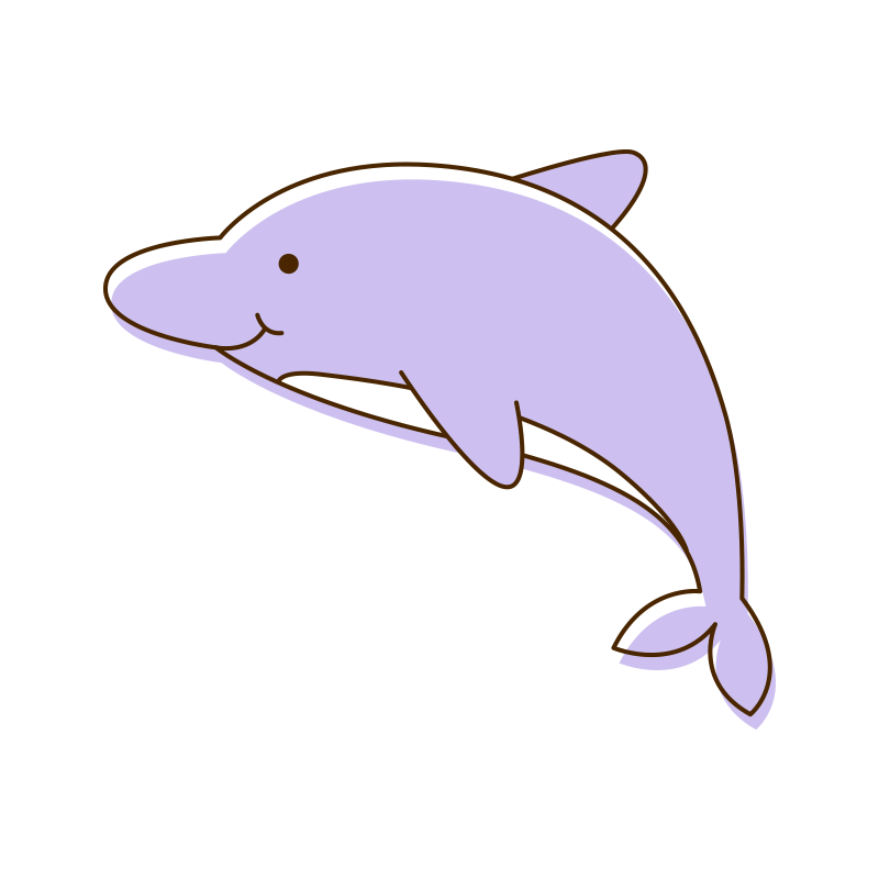 Tucuxi common bottlenose dolphin. Dolphins clipart underwater