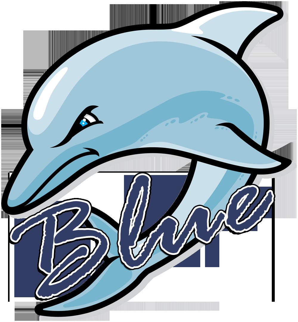 Dolphin clipart blue dolphin. Dolphins logo