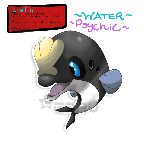 Shellfin water type fakemon. Dolphin clipart dolphin trainer