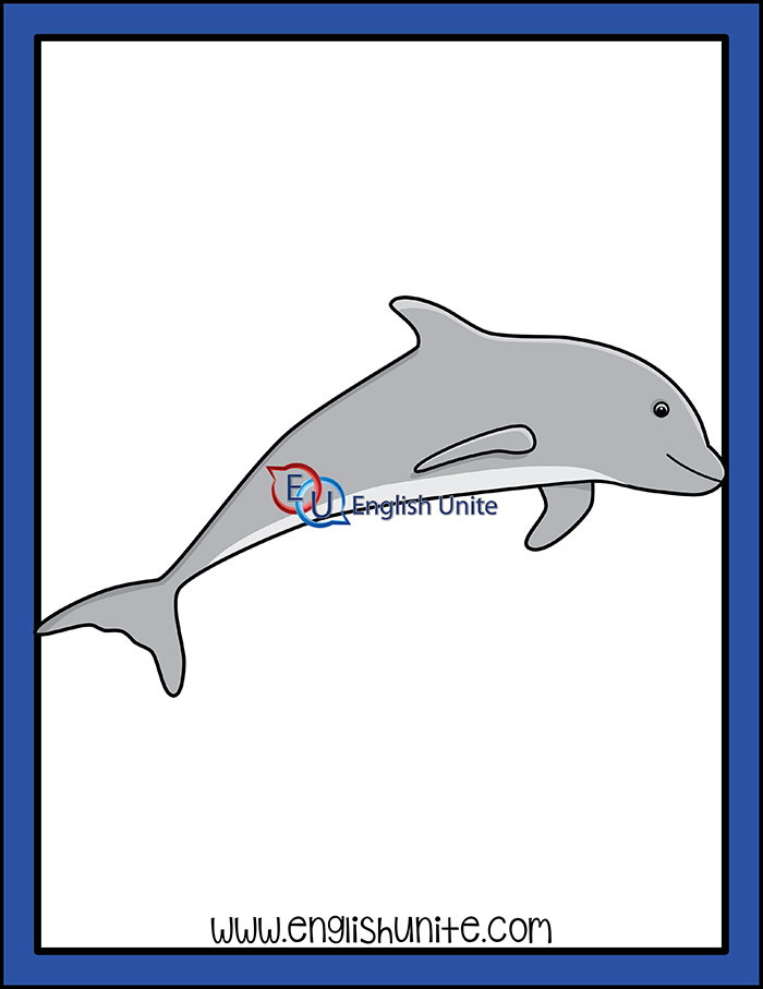 Dolphin clipart dolphin word. Under the sea
