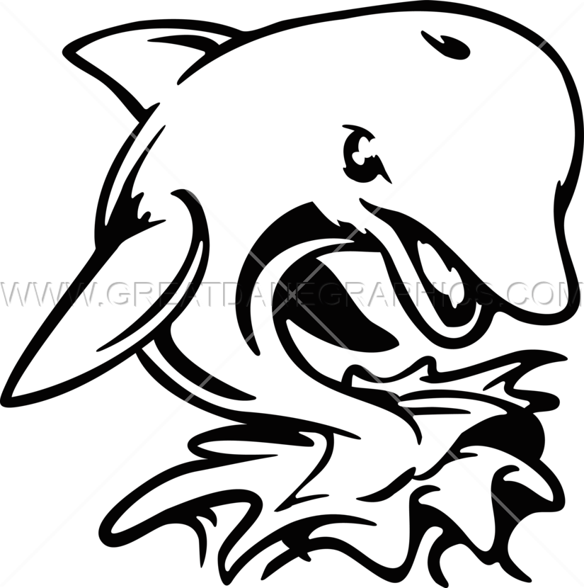 Angry production ready artwork. Dolphin clipart dolphin mascot