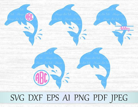 Svg monogram whale . Clipart dolphin file