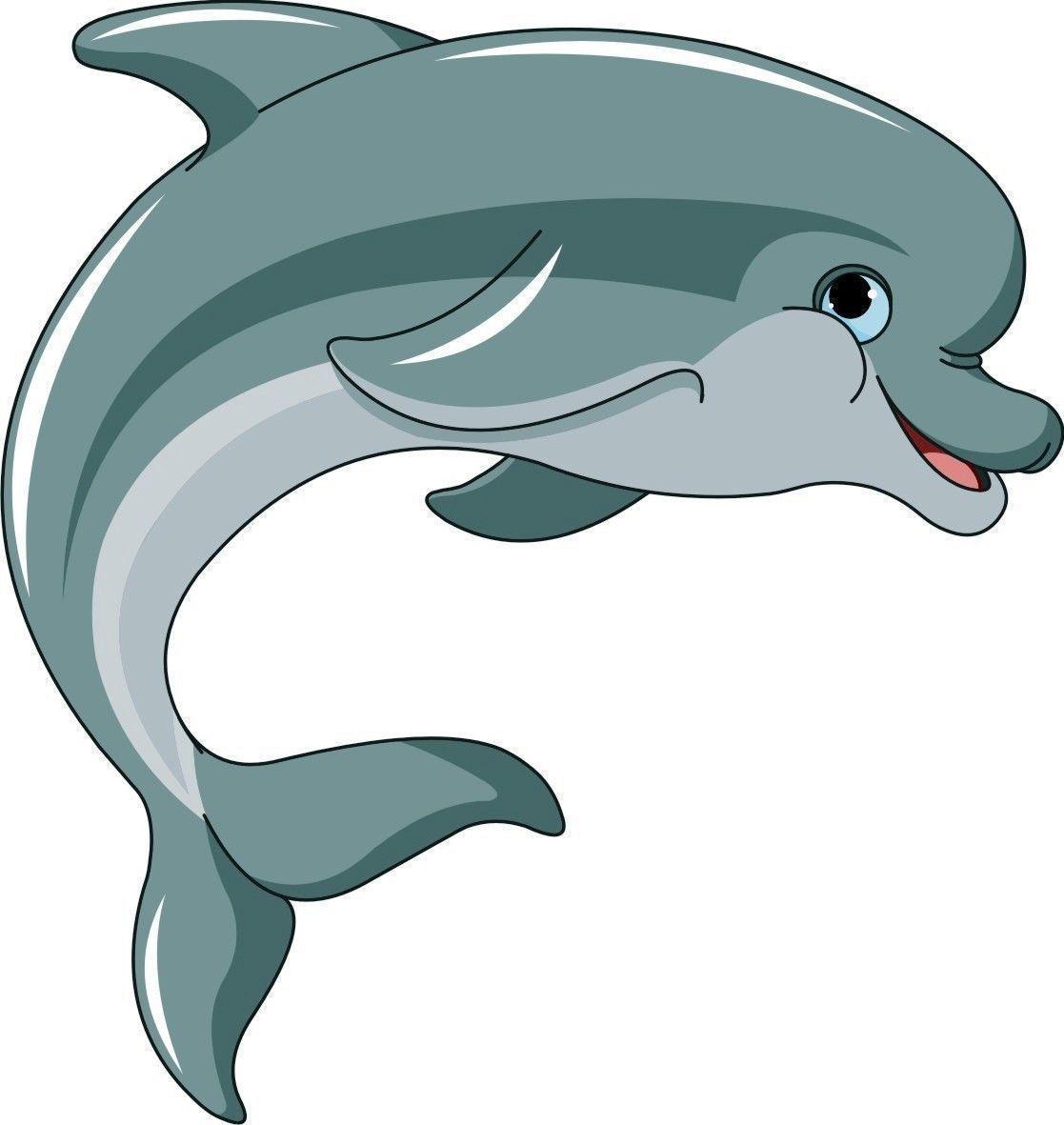 Dolphin clipart flipper. Cartoon sticker decal graphic