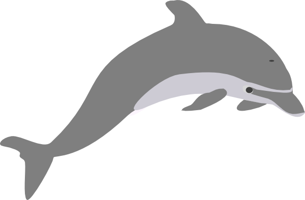 Dolphin clipart copyright free. Outline grey clip art
