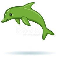 Vektory z knihovny me. Dolphin clipart green dolphin