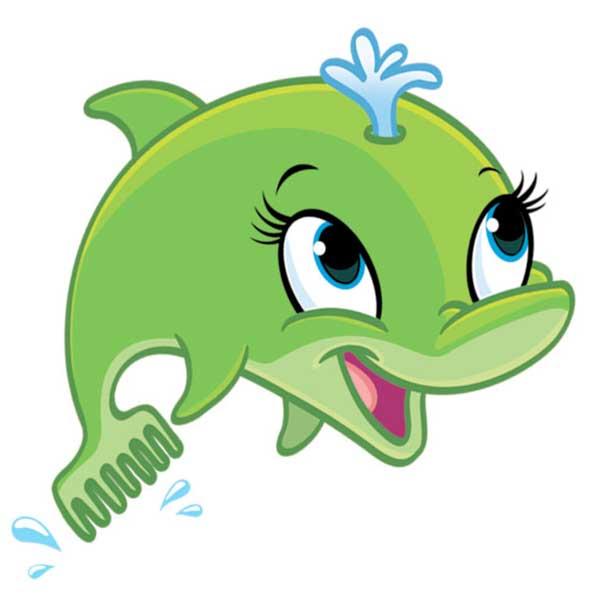 Dolphin clipart green dolphin. Cartoon image clip art
