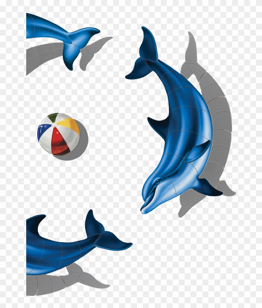 Dolphins clipart group dolphin. Porcelain series pool mosaics