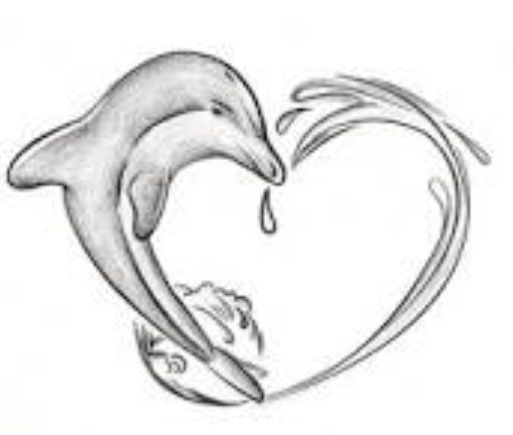 Station . Dolphin clipart heart