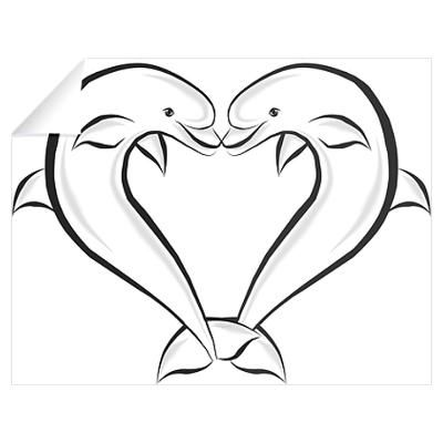 Drawing google search home. Dolphin clipart heart