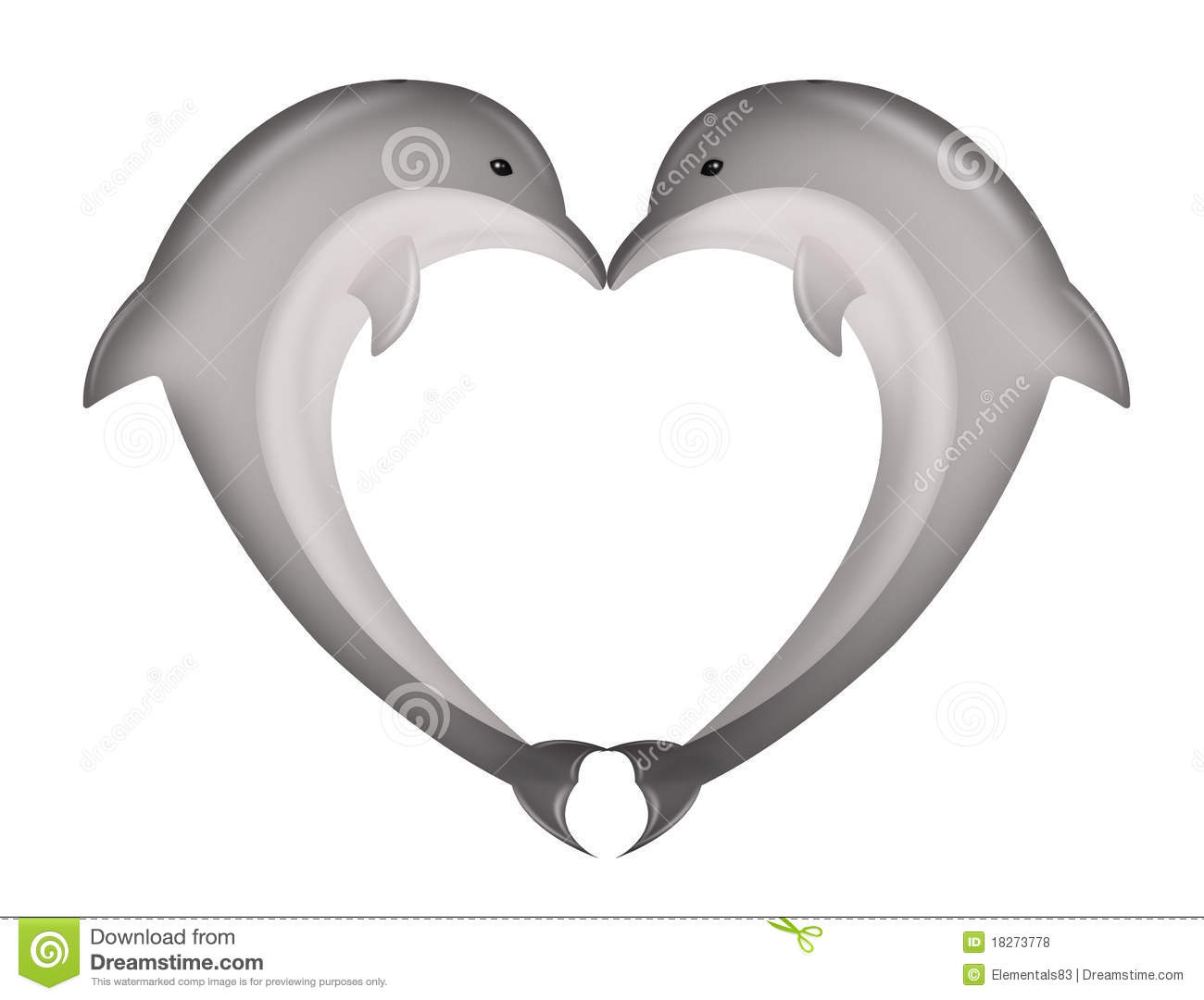 Dolphin clipart heart. Station