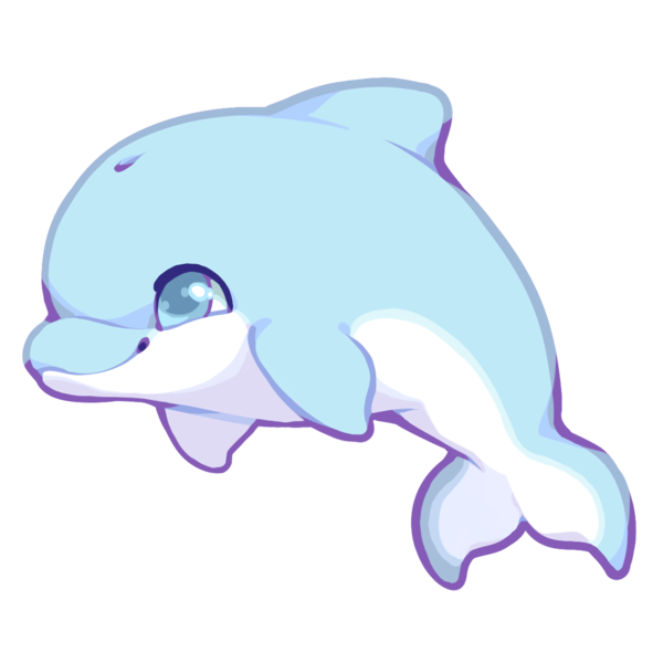 collection of kawaii. Dolphins clipart cute anime