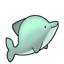 Dolphin clipart kawaii. Cute lots of clip