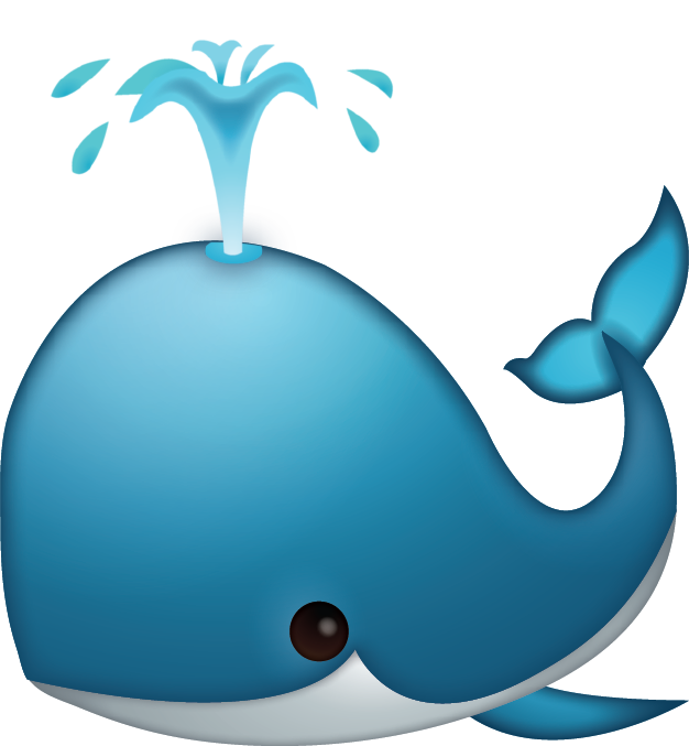Sad clipart whale. Download spouting iphone emoji