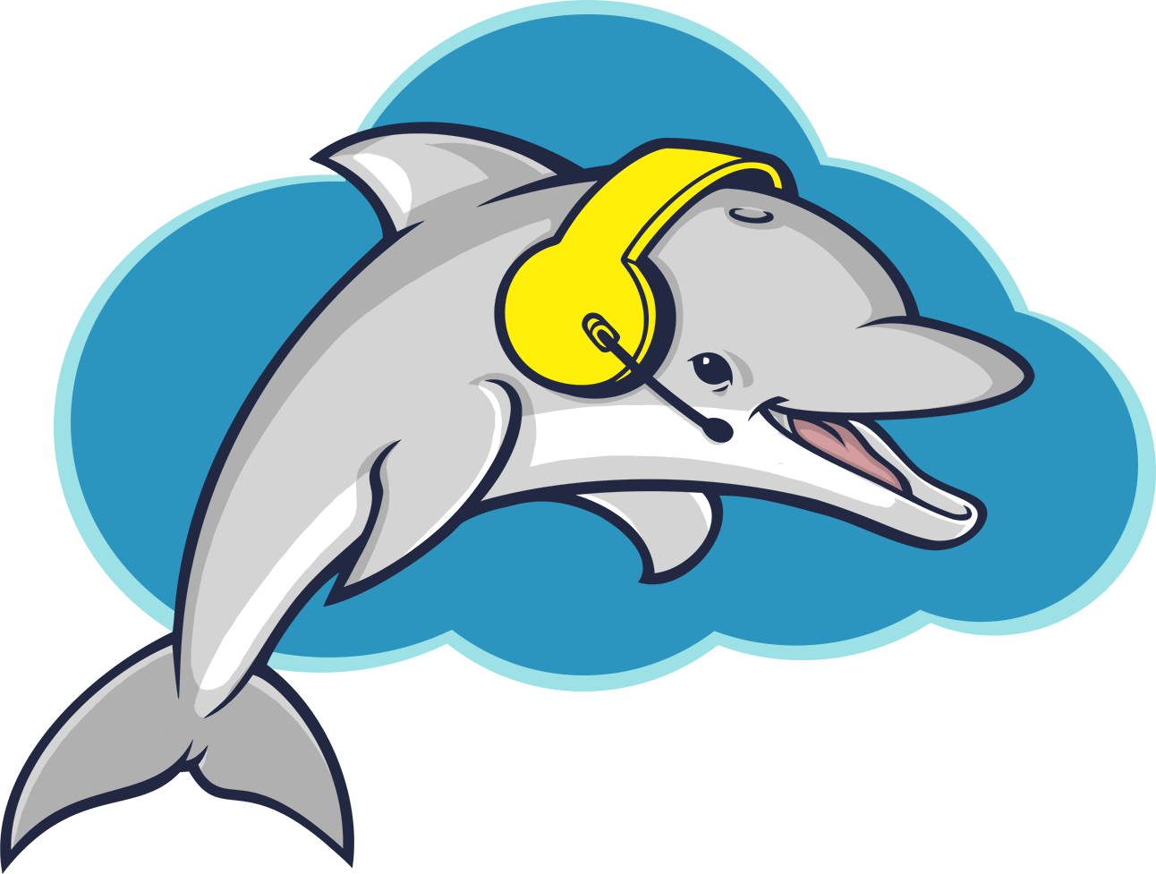 Crm dialer for telesales. Dolphin clipart living thing