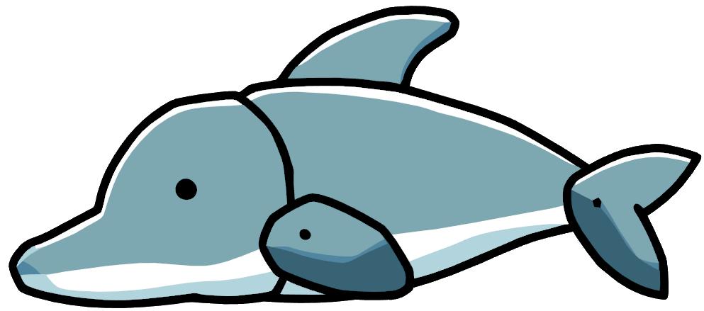 Dolphins clipart aquatic animal. Dolphin scribblenauts wiki fandom