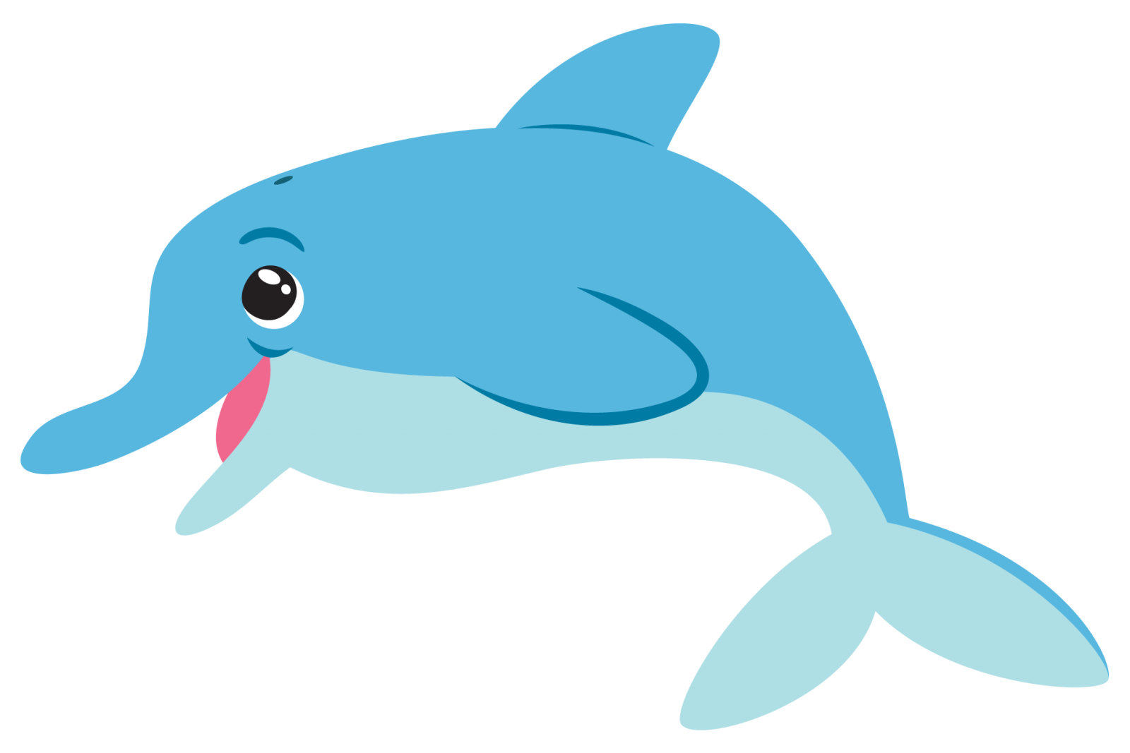 Bottlenose clip art cliparts. Dolphin clipart dolphin swimming