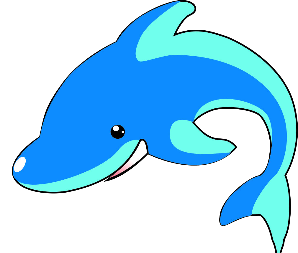 Dolphin clipart abstract. Cartoon blue whale transprent