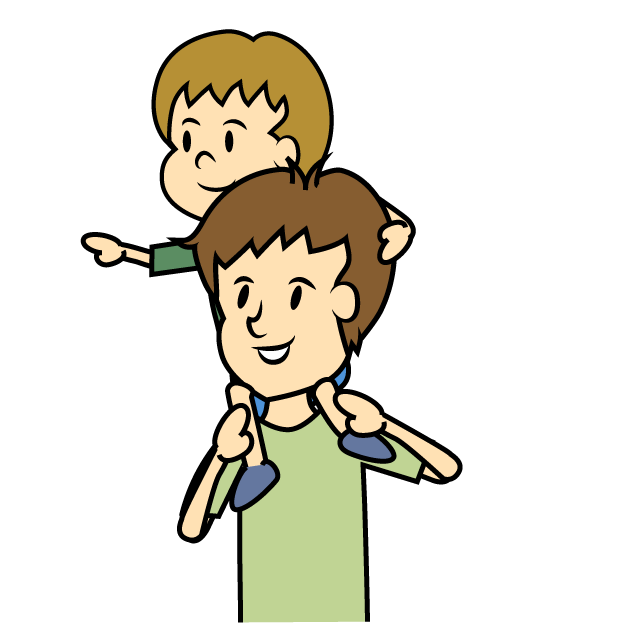 Father clipart walking. Free child and image