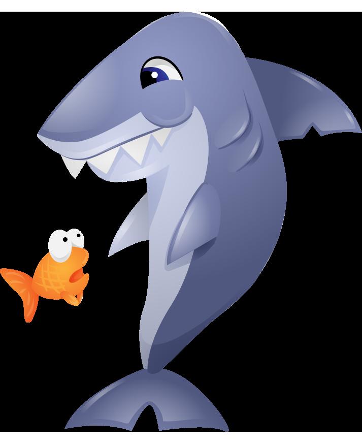 Shark goldfish clip art. Dolphin clipart mammal