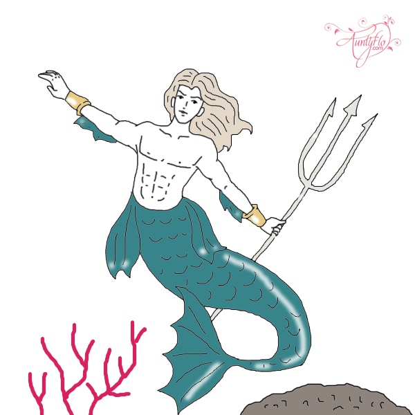 Triton the of sea. God clipart uranus god