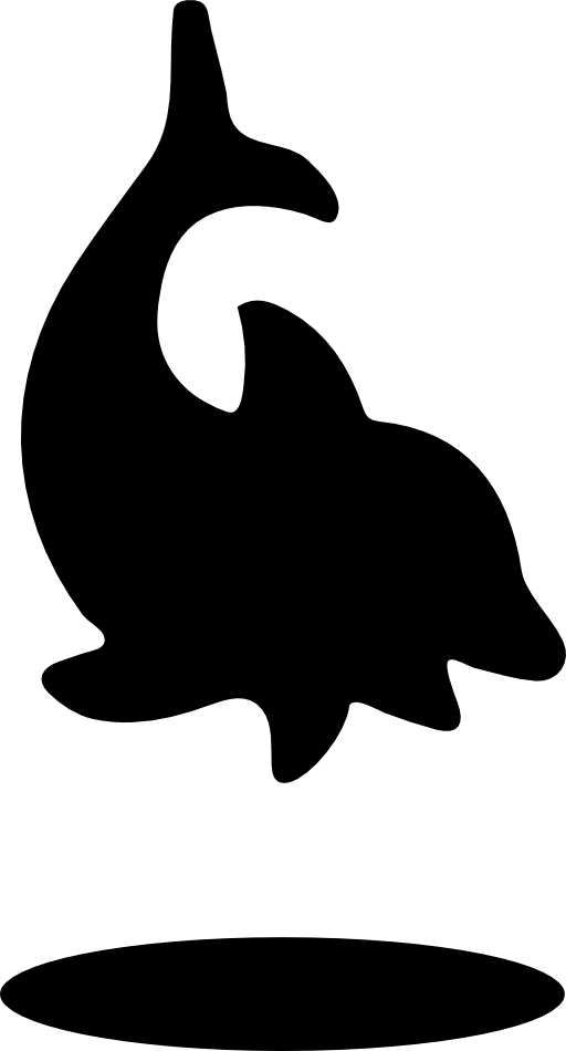 Dolphin clipart public domain. Icon i royalty free
