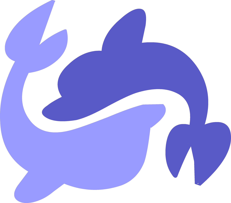 Sea swirl pinterest unicorn. Dolphin clipart purple