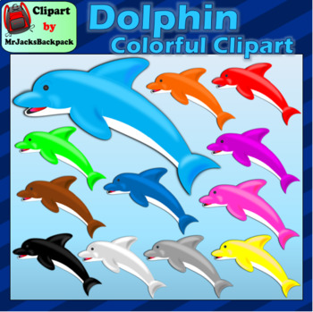 Dolphin clipart rainbow. Colorful dolphins