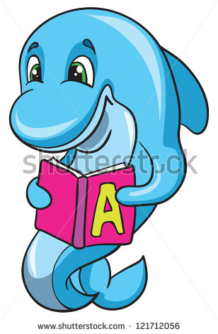 Dolphin clipart reading fun.  funny pictures