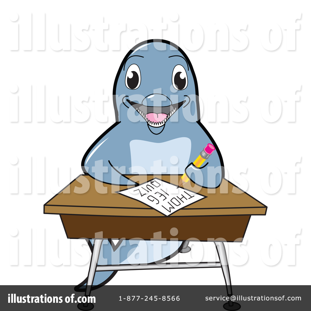 Mascot illustration by toons. Clipart dolphin reading