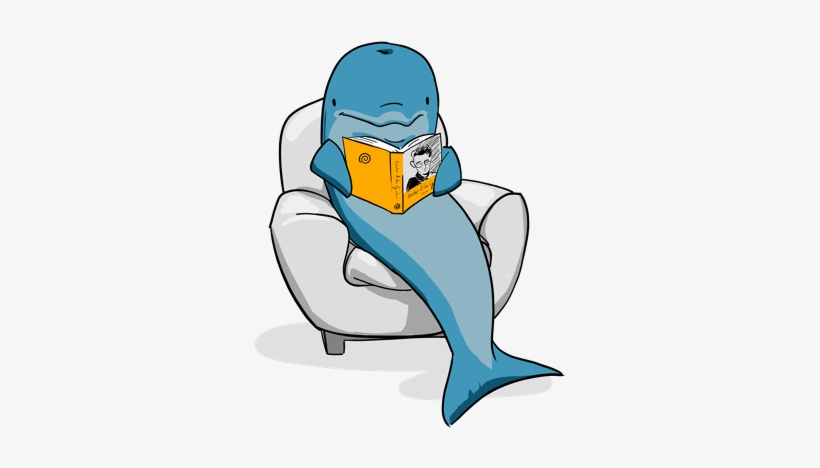 Dolphins a free . Clipart dolphin reading book