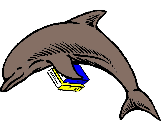 Clipart dolphin reading book. Dolphins guide to the