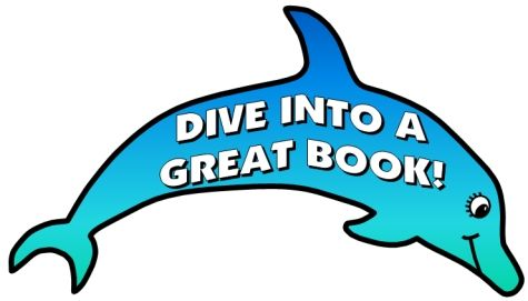 Dive into reports fish. Clipart dolphin reading book