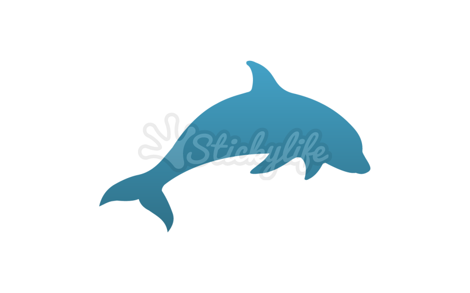Dolphin clipart colorful. Decal custom window stickers