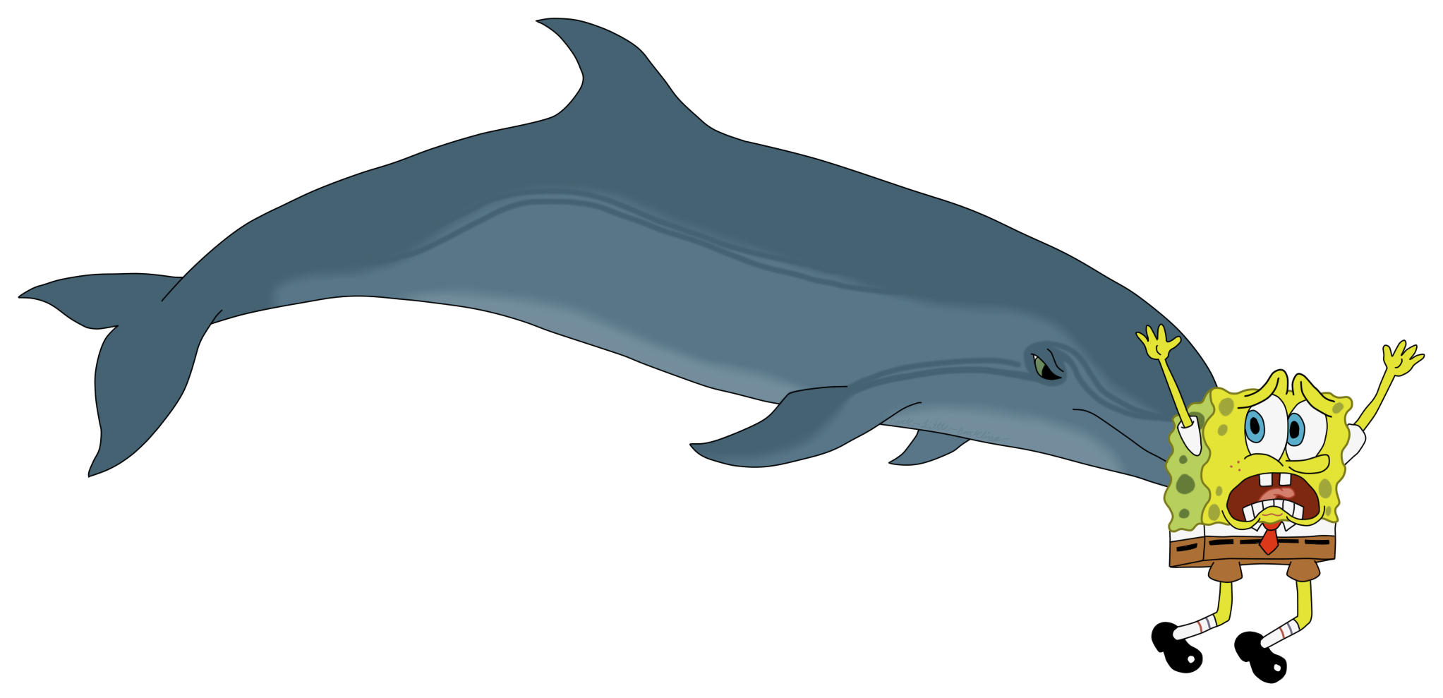 Dolphin clipart moving picture. A bottlenose sponging weasyl