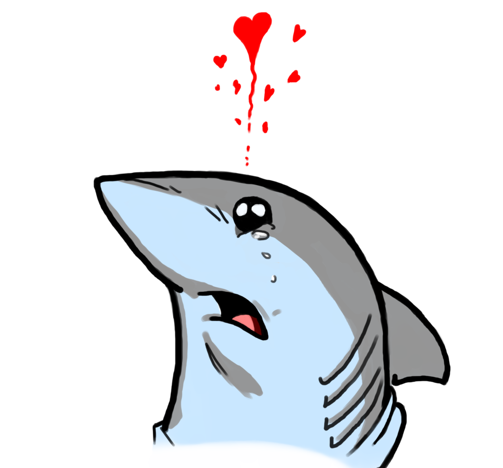Dolphin clipart sad. Cute shark by ashe
