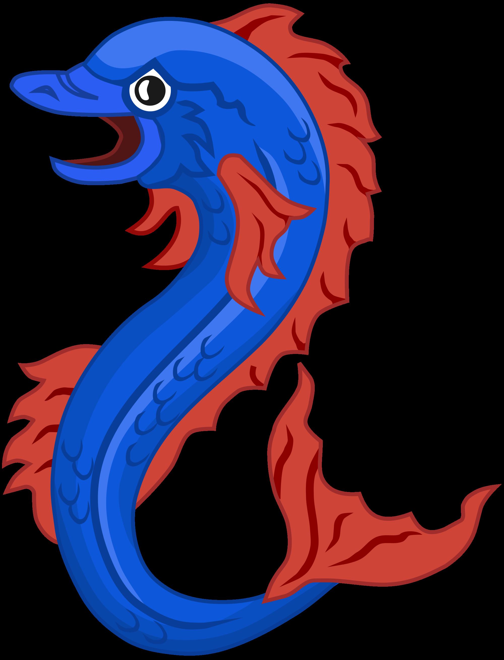 dolphin clipart seahorse #96850245