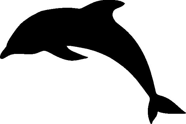 Dolphin clipart vector. Clip art black and