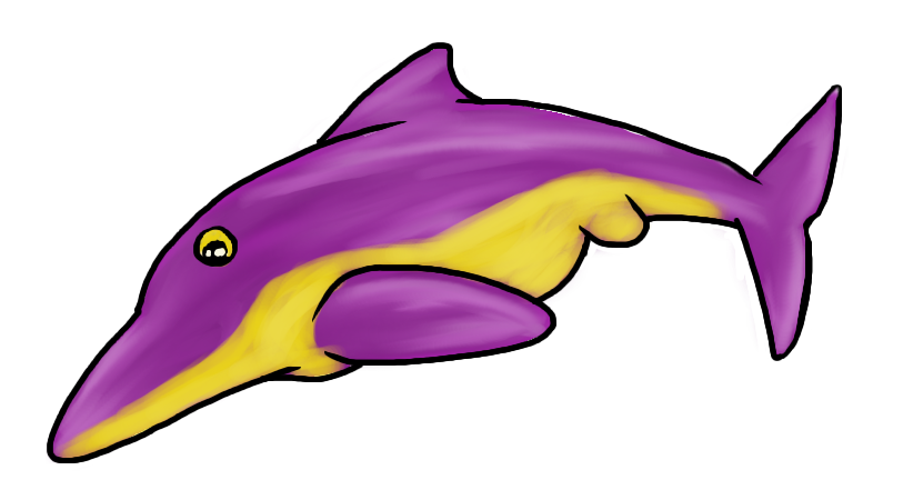 Prehistoric dolphin by ossiekins. Dolphins clipart side view