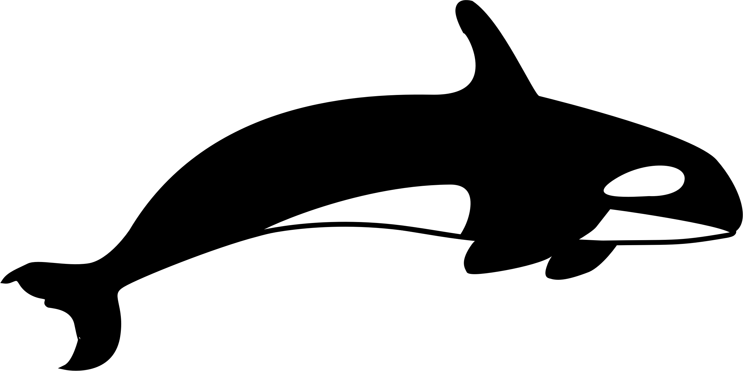 Dolphin clipart silhouette. The orca big image