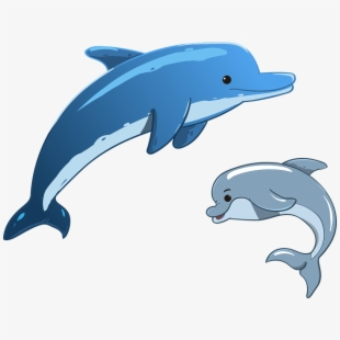 Dolphin clipart small dolphin. Dolphins cartoon jumping png